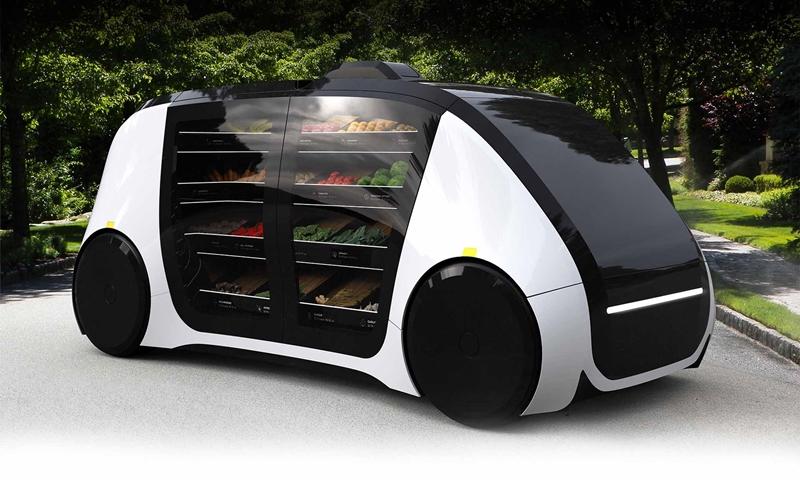 無人商店不夠看!自動駕駛小貨車24小時隨call隨到,生鮮蔬果直送到家門口給你挑