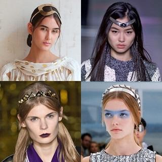 妝點你的造型!春夏髮型趨勢:金屬感髮箍