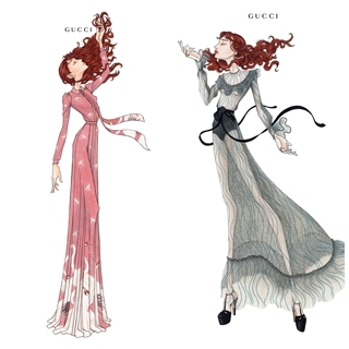 Florence Welch浪漫演唱會造型 GUCC...