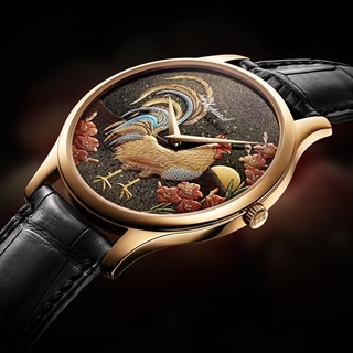 金雞賀新年 錶盤上的工藝之巔