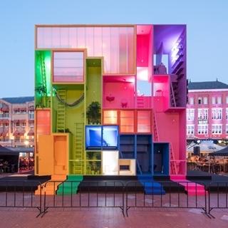 荷蘭未來彩色概念旅館,你想住進哪一個顏色裡?