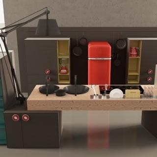 體積小卻功能強大  未來「迷你」廚房