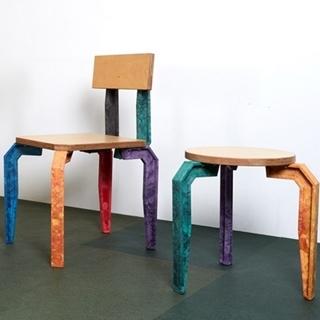 板凳換上彩色椅腳竟然這麼美!倫敦青年不可小覷的軟...