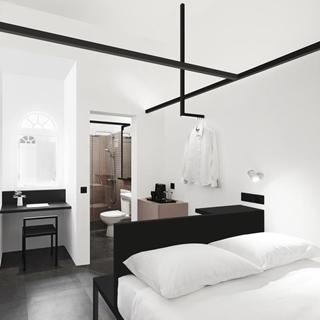 黑白就是時髦!視覺涼感降溫的Hotel Mono