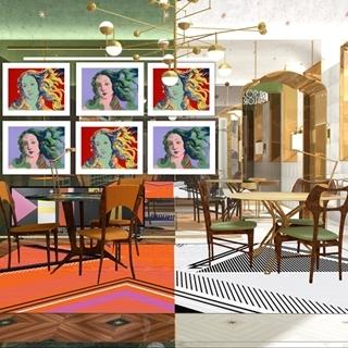 寶格麗聖誕普普藝術裝飾櫥窗實在太美!經典八芒星超亮眼