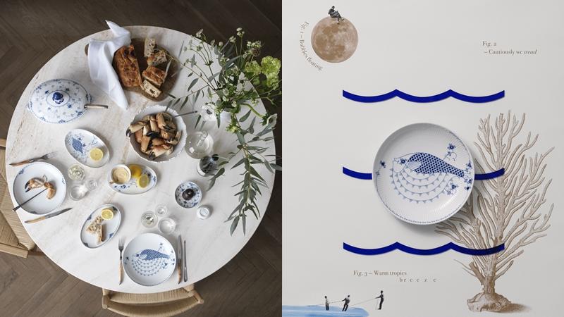 皇家哥本哈根攜手設計師雙人組GAMFRATESI ,推出全新「皇家海洋生物」系列