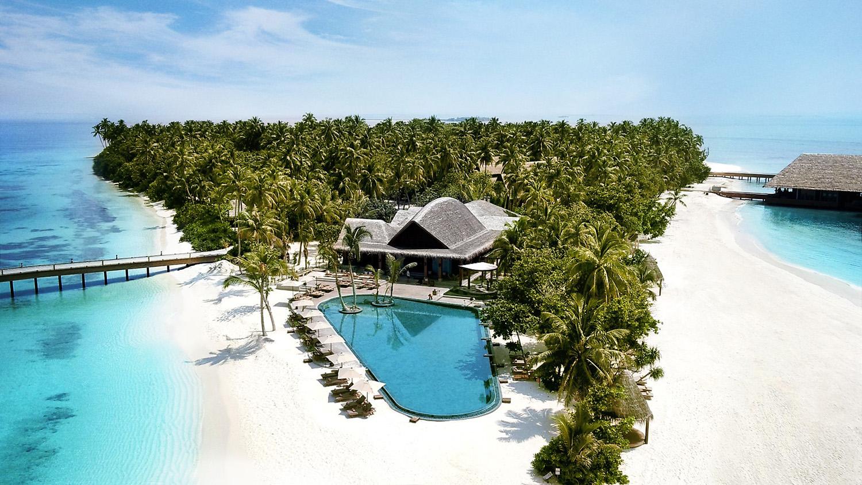 臥於馬爾地夫北端環礁的柔美