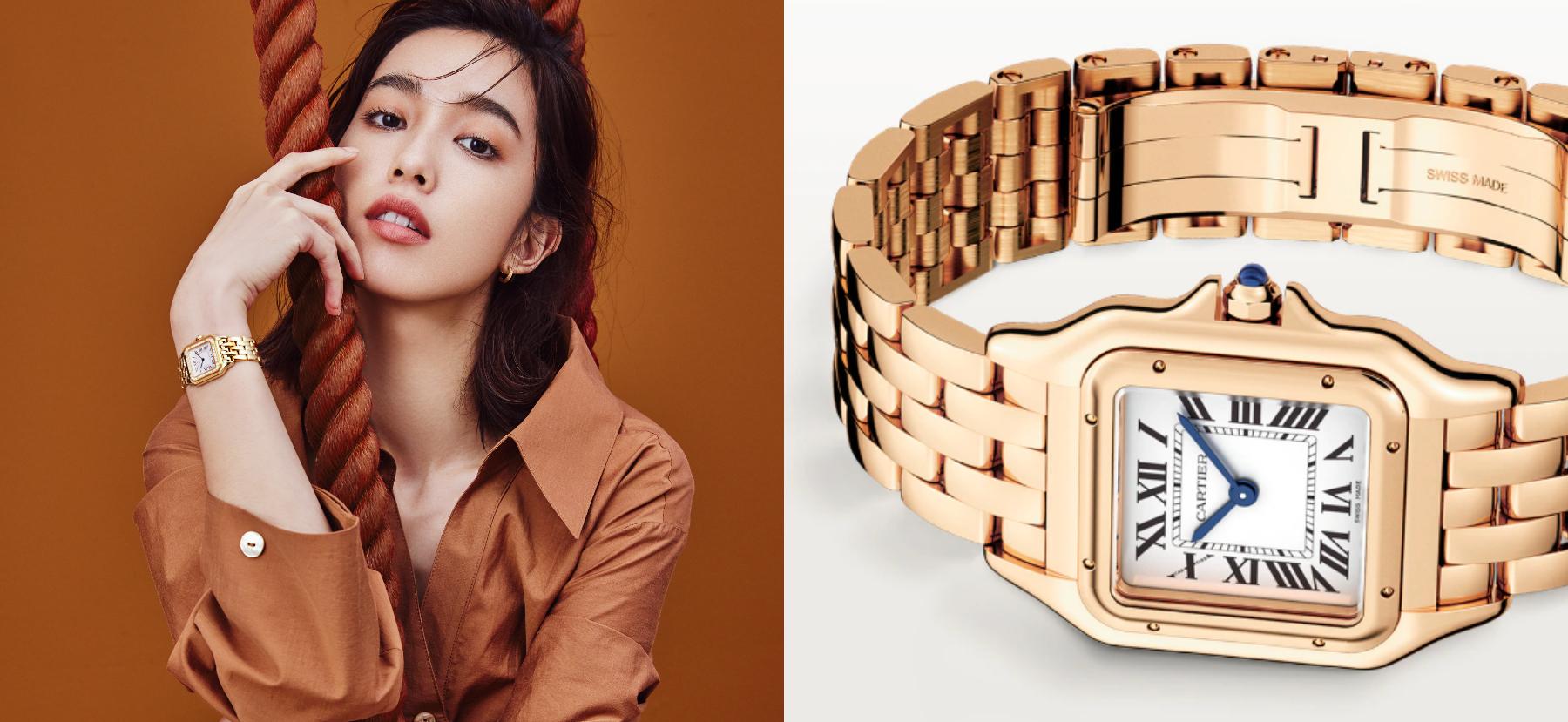 卡地亞形象大使陳庭妮 霸氣演繹經典美洲豹腕錶