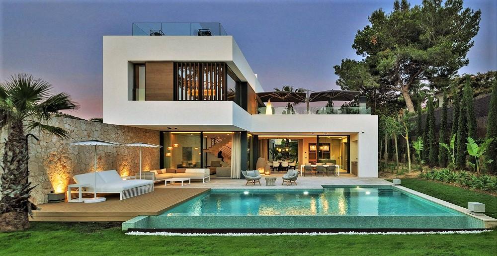 地中海石木堆砌出的現代科技宅  馬略卡大島上的Twelve當代別墅
