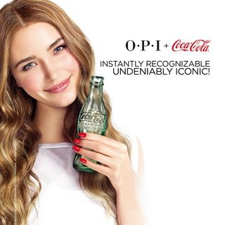 用指尖對可樂致敬 OPI  X Coca-Cola歡...