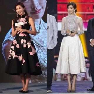 林志玲為《道士下山》趕場換裝 兩套夏姿高訂驚艷北京