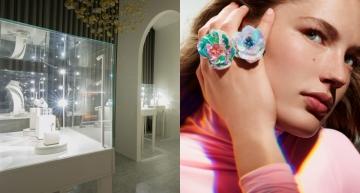 全新Holographique高級珠寶系列登台!全白空間突顯Claire Choisne建構的七彩世界